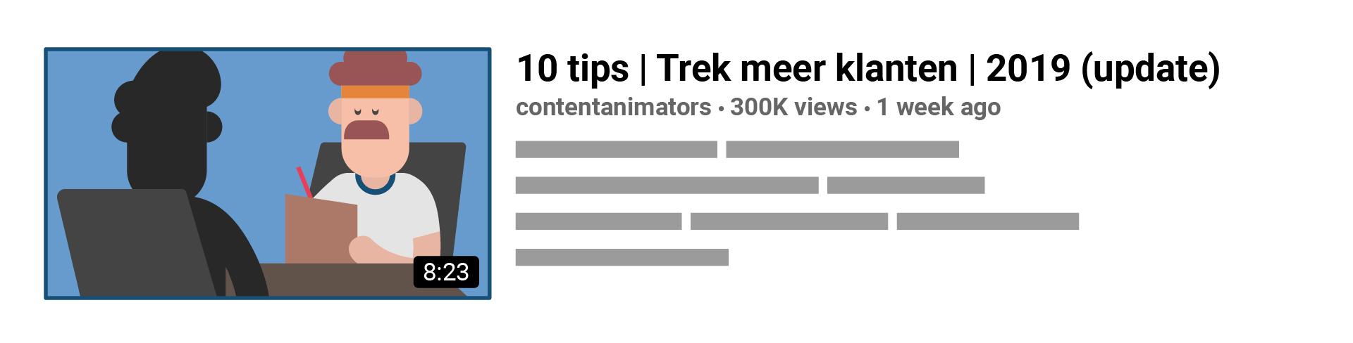 De titel van een video lokt de kijker erop te klikken. Hoe overzichtelijker en makkelijker te scannen, hoe meer views je zult krijgen.